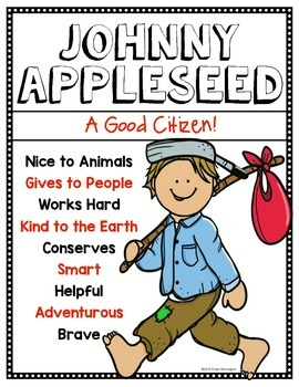 Johnny Appleseed: Literacy & Citizenship Pack for First Grade & Kindergarten