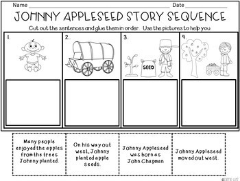 Johnny Appleseed Literacy/Social Studies, Math and Science Activities