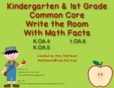 Johnny Appleseed Math Addition Write the Room