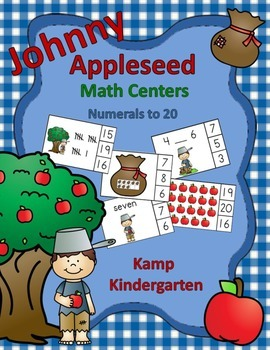 Johnny Appleseed Math Centers (Numerals to 20)