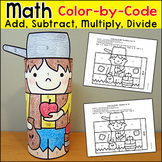 Johnny Appleseed Math Activity - Color by Number Fall Craft
