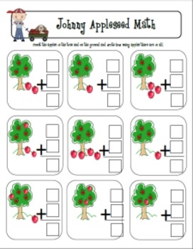 Johnny Appleseed Math Freebie