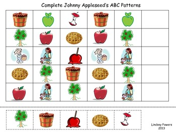Johnny Appleseed Math & Literacy Packet