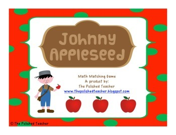 Johnny Appleseed Math Matching
