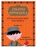 Johnny Appleseed Math Worksheets Grades 1-3