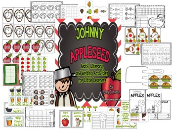 Johnny Appleseed Math and Literacy Center Activities