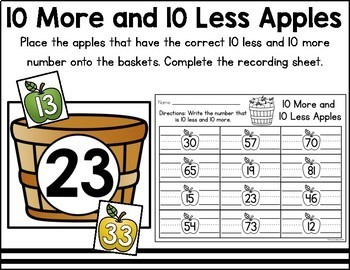 Johnny Appleseed Math and Literacy Centers
