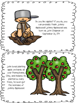 Johnny Appleseed Mini Book Color Version