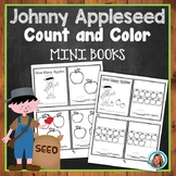 Johnny Appleseed Activities for kindergarten  & 1st Coloring Mini Counting Book