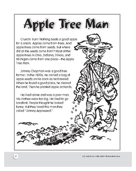 Johnny Appleseed: Mini History Lesson and Activities for Grades 1–3