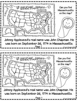 Johnny Appleseed Mini-book