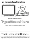 Johnny Appleseed - Name Practice Editable Sheet - #60CentF