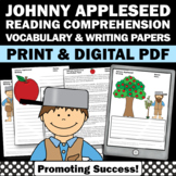Johnny Appleseed Day Activities, Nonfiction Reading Comprehension Worksheets