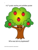 K-2nd grade reading comprehension passage and activities {Johnny Appleseed}