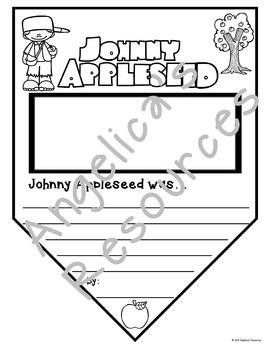 Johnny Appleseed Activities : Summary Pennants - Writing Craftivity