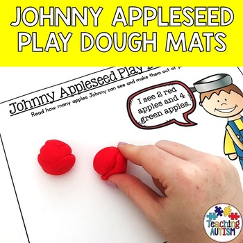 Johnny Appleseed Play Dough Mats