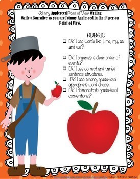 Johnny Appleseed Point of View Narrative Writing-Fall Fun (RL 4.6 / W.4.3)