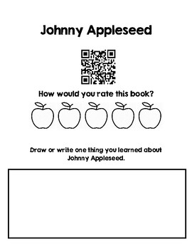 Johnny Appleseed QR Code Homework Classwork
