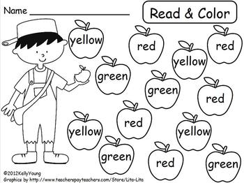 Johnny Appleseed Read Color Roll Cover by Young and Lively