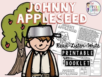 Johnny Appleseed Read-Listen-Write Printable Booklet for Daily Five