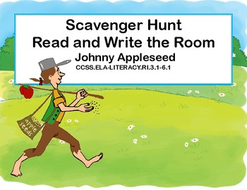 Reading-Johnny Appleseed- Read and Write The Room- Grades 3-6