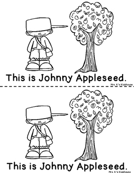 Johnny Appleseed Reader AND Pocket Chart Activity