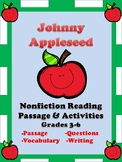 Johnny Appleseed Reading Comprehension Passage