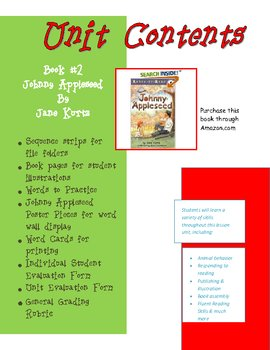 Johnny Appleseed Reading Comprehension Unit Level 1