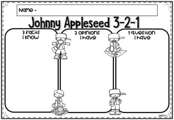 Johnny Appleseed Reading and Writing Tasks