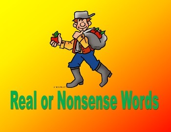 Johnny Appleseed Real or Nonsense Word Sort