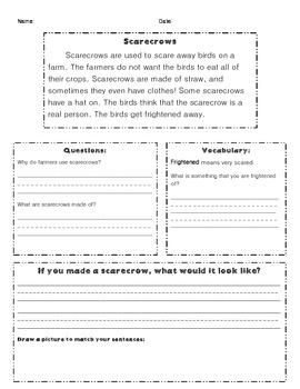 Scarecrow Reading Comprehension
