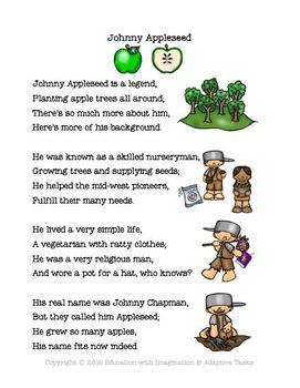 Johnny Appleseed Rhyme Bundle