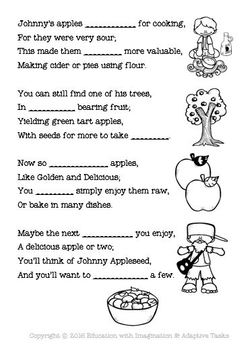 Johnny Appleseed Rhyme Bundle