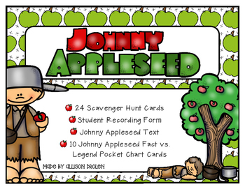 Johnny Appleseed Scavenger Hunt and Class Sort Activity