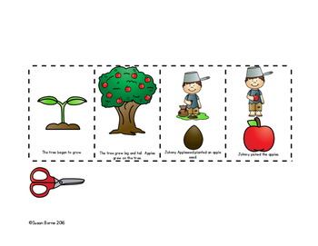 Johnny Appleseed Sequencing Worksheets Teachers Pay Teachers