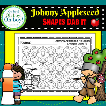 Johnny Appleseed Shapes Dab It - S