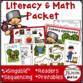 Johnny Appleseed Song with Literacy & Math Activities & Pr