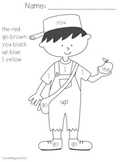 Johnny Appleseed Sight Word Coloring Sheet
