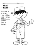 Johnny Appleseed Sight Words Color