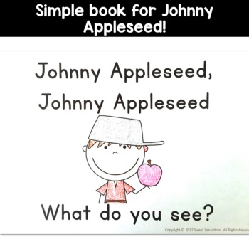 Johnny Appleseed Simple Reading for Kindergarten and Pre-K