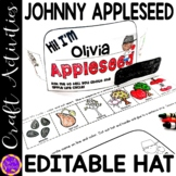 Johnny Appleseed Hat | Apple Life Cycle Hat | Editable App
