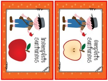 Johnny Appleseed Sorting Complete and Incomplete Sentences (Common Core Aligned)