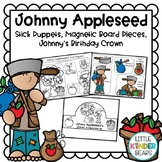 Johnny Appleseed Activities Stick Puppets, Magnetic Board Pieces & headbands