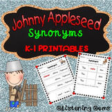Johnny Appleseed Activities  | Synonyms Worksheets
