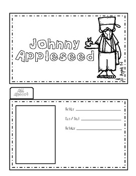 Johnny Appleseed Writing Tab Book