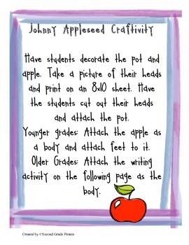 Johnny Appleseed: Tall Tales, Apples, Seeds, Writing and Math