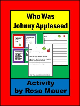 Who Was Johnny Appleseed Task Cards