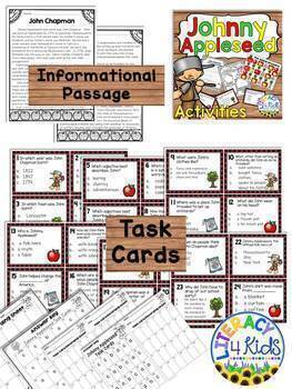 Johnny Appleseed Literacy Activities for Grade 3