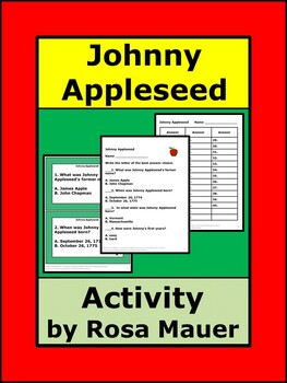 Johnny Appleseed Task Cards