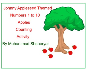 JohnnyAppleseed Themed Counting apples 1-10 Smart Notebook activity: